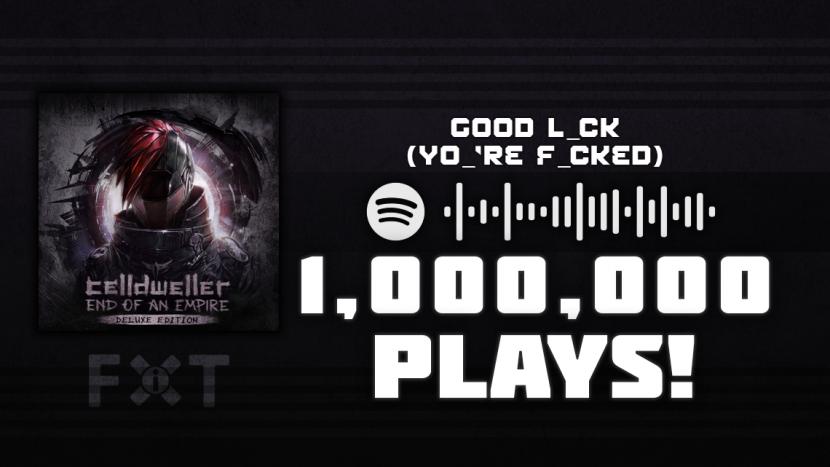"Celldweller's ""Good L_ck (Yo_'re F_cked)"" Reaches 1 Million Plays"